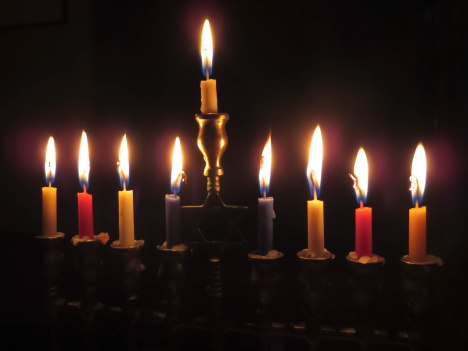 Menorah ... The photo is taken from ... https://pixabay.com/en/candles-menorah-light-hanukkah-897776/