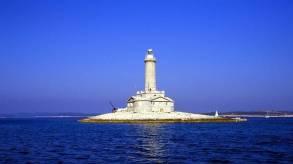 The Beauty of Lighthouse and Deep Blue ... Porer Lighthouse-Istria-Pula ... Photo taken from ... https://www.timeout.com/croatia/blog/croatias-ten-best-lighthouses-061916
