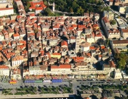 City of Split today-Arial View ... The photo is taken from ...