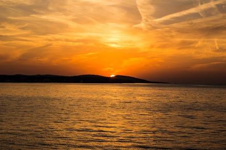 The Romantic Beauty-Sunset on Islands ... Credit: Benjamin C.-Croatia ... Photo taken from ... https://pixabay.com/en/sunset-sea-island-croatia-coast-523912/