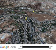 Talpiot Tomb ... https://en.wikipedia.org/wiki/Talpiot_Tomb ... The photo is taken by Google Earth
