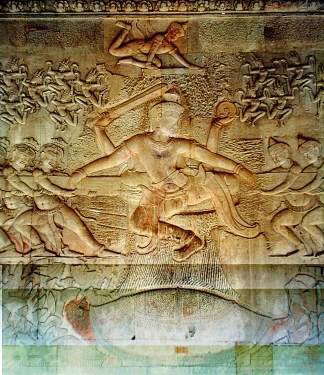 Samudra Manthan - Churning of the Ocean of Milk - The photo is taken from ... https://commons.wikimedia.org/wiki/File:Awatoceanofmilk01_-_color_corrected.JPG